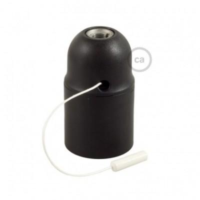 Thermoplastisches E27-Lampenfassungs-Kit mit Doppelklemmring und Zugschalter für Lampenschirme