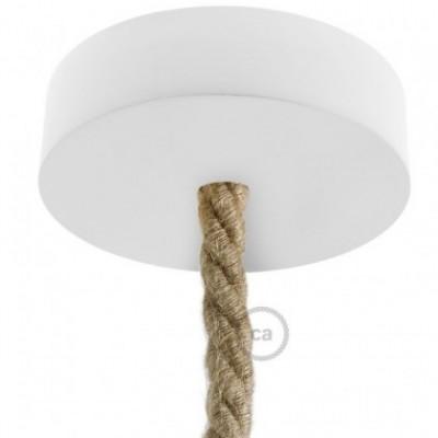 Lampenbaldachin Kit aus Holz für XL-Seilkabel