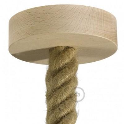 Lampenbaldachin Kit aus Holz für 3XL-Seilkabel