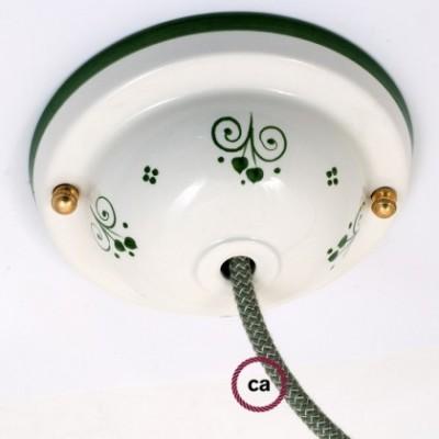 Deco-81 Berries Lampenbaldachin Kit aus Keramik
