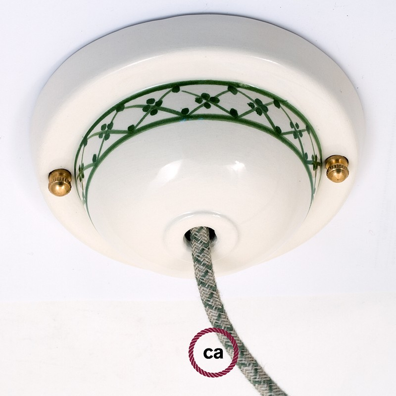 Kit rosone in ceramica con Decoro 82-Edera