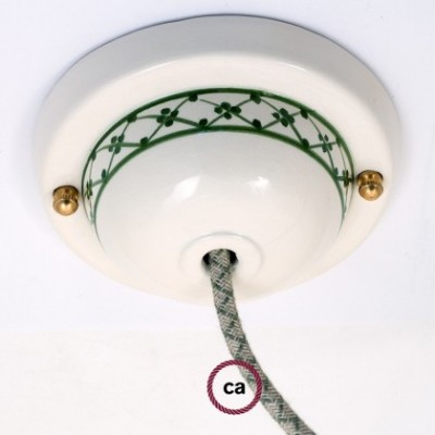 Deco-82 IvyLampenbaldachin Kit aus Keramik