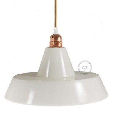 Industrie-Lampenschirm aus Keramik zum Aufhängen - Made in Italy