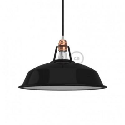 Lampenschirm Harbour aus lackiertem Metall mit E27-Fassung, 30 cm Durchmesser