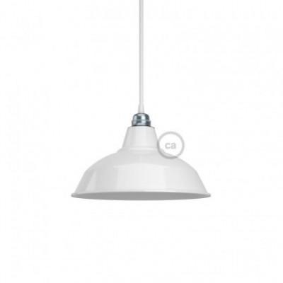 Lampenschirm Bistrot aus lackiertem Metall mit E27-Fassung, 30 cm Durchmesser