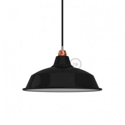 Lampenschirm Bistrot aus lackiertem Metall mit E27-Fassung, 38 cm Durchmesser