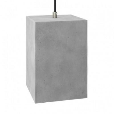 Paralume in cemento Cubo per lampada a sospensione, completo di serracavo e portalampada E27