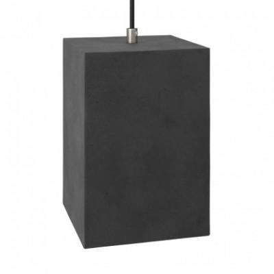 Lampenschirm Cube aus Zement mit Kabelklemme und E27-Fassung zum Aufhängen