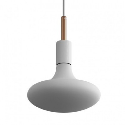 Suspension en cable textile avec finition métal et serre-cable de 7 cm - Made in Italy