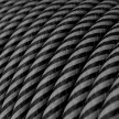 Suspension en cable textile avec finition cuivre - Made in Italy