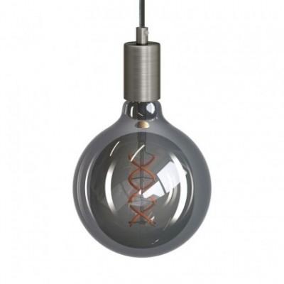 Suspension avec cable textile torsadé et finition en métal - Made in Italy