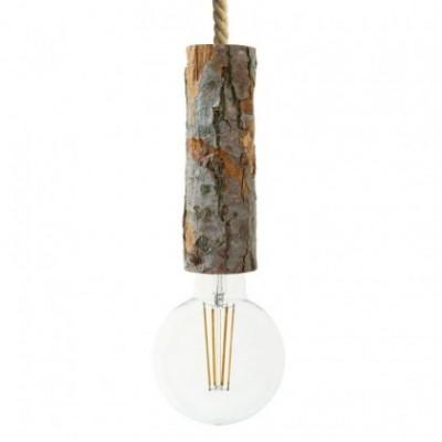 Suspension avec corde XL avec douille à écorce Large - Made in Italy
