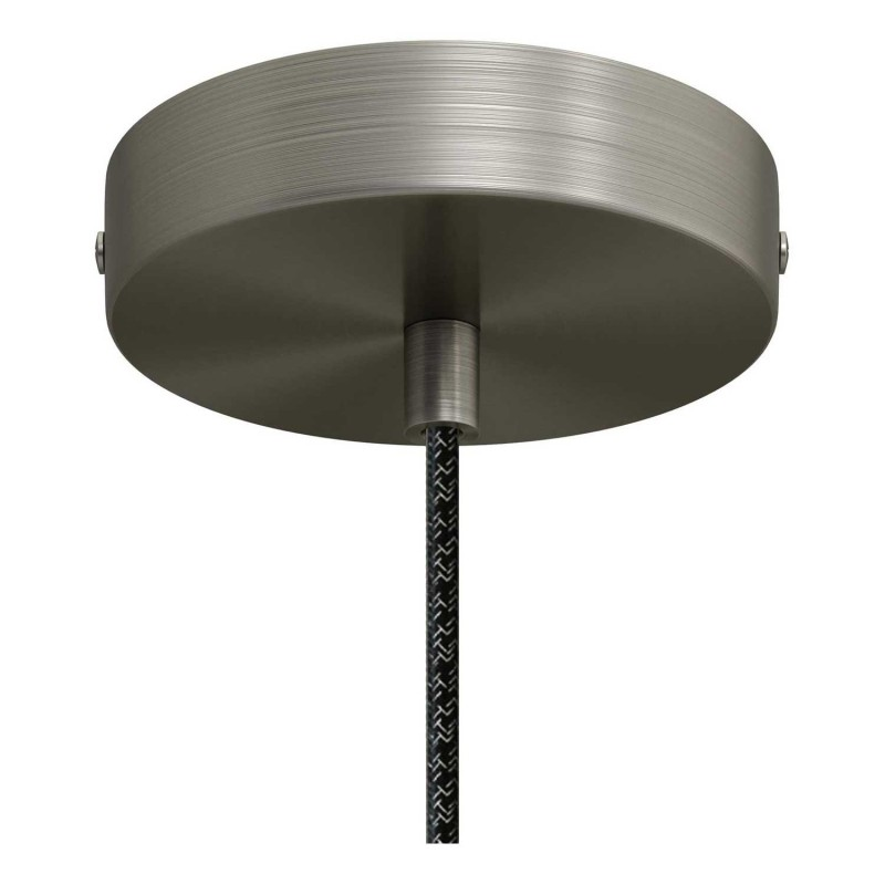 Suspension avec câble textile, abat-jour Cloche XL en céramque - Made in Italy