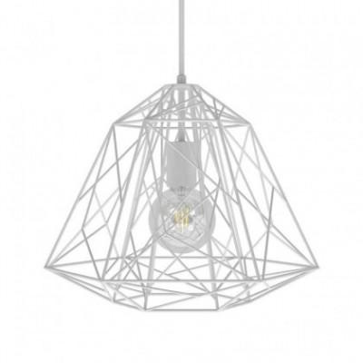 Pendelleuchte mit Textilkabel, Apollo Lampenschirm und Metall-Zubehör - Hergestellt in Italien