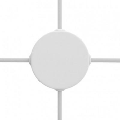 Kit Mini rosone cilindrico in metallo a 4 fori laterali (scatola di derivazione)