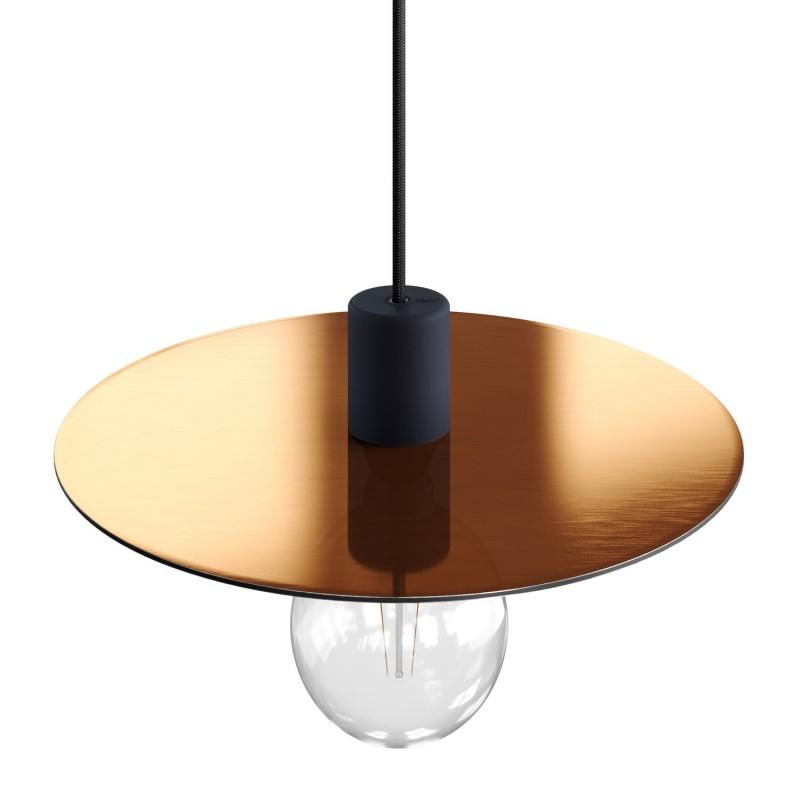 EIVA ELEGANT Lampe à suspension avec 5 m câble textile, abat-jour Ellepì, rosace et douille en silicone IP65 étanche