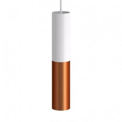 Tub-E14, tubo in metallo doppio per faretto con portalampada doppia ghiera E14