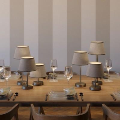 Alzaluce con paralume Impero, lampada da tavolo in metallo con spina 2 poli, cavo e interruttore