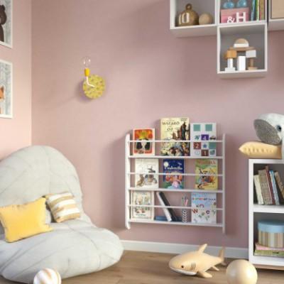 Fermaluce Pop applique murale en métal et porcelaine, avec rosace Rose-One et extension curbe