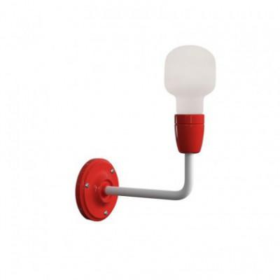Fermaluce Color aus Porzellan und Metall, verschiedenfarbig Wandleuchte mit gebogenes Rohr