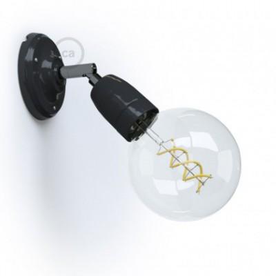 Fermaluce 90° Color, il punto luce orientabile in porcellana da parete o soffitto