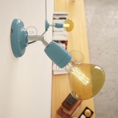 Fermaluce Color 90° aus Porzellan, verstellbare Wandleuchte