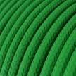 Elektrisches Kabel rund überzogen mit Textil-Seideneffekt Einfarbig Grün RM06