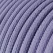 Fil Électrique Rond Gaine De Tissu De Couleur Effet Soie Tissu Uni Lilas RM07