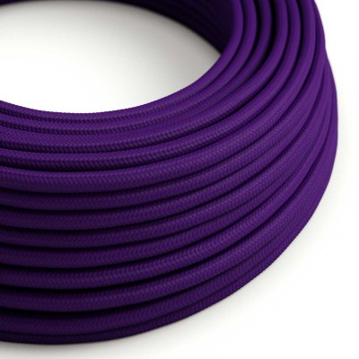 Elektrisches Kabel rund überzogen mit Textil-Seideneffekt Einfarbig Violett RM14