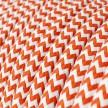 Elektrisches Kabel rund überzogen mit Textil-Seideneffekt Zick-Zack Orange RZ15