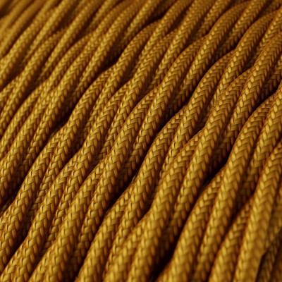 Fil Électrique Torsadé Gaine De Tissu De Couleur Effet Soie Tissu Uni Or TM05