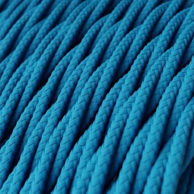 Fil Électrique Torsadé Gaine De Tissu De Couleur Effet Soie Tissu Uni Turquoise TM11