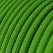 Cavo Elettrico rotondo rivestito in tessuto effetto Seta Tinta Unita Verde Lime RM18