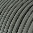 Fil Électrique Rond Gaine De Tissu De Couleur Effet Soie Tissu Uni Gris RM03