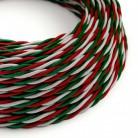 Elektrisches Kabel geflochten überzogen mit Textil-Seideneffekt Italien