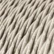 Cavo Elettrico trecciato rivestito in Lino Naturale Neutro TN01