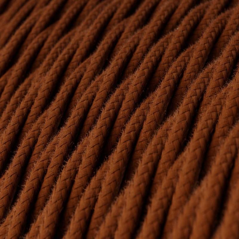 Fil Électrique Torsadé Gaine De Tissu De Couleur Coton Daim TC23