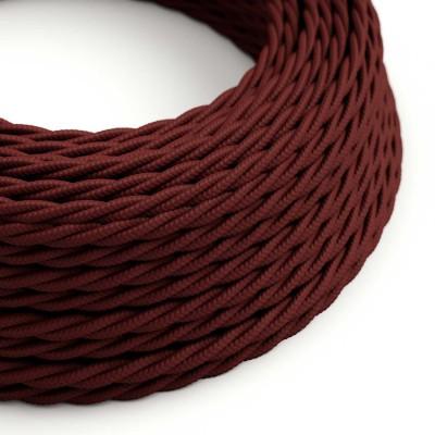 Elektrokabel geflochten überzogen mit Textil-Seideneffekt Einfarbig Bordeaux TM19