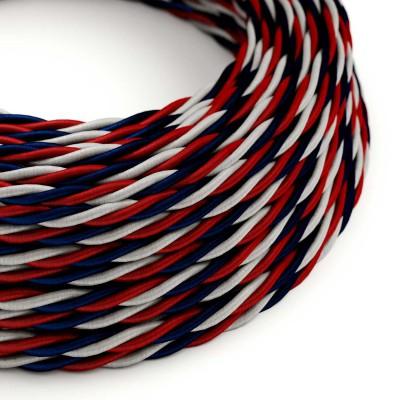 Elektrokabel geflochten überzogen mit Textil Seideneffekt USA TZUSA