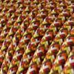 Elektrokabel rund Textil ummantelt Seideneffekt RX01 Pixel Orange
