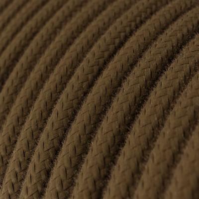 Elektrisches Kabel rund überzogen mit Baumwolle Einfarbig Braun RC13