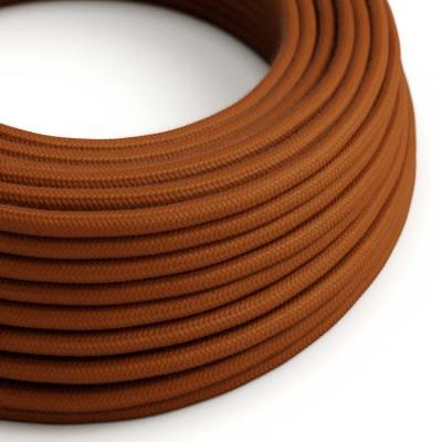 Elektrisches Kabel rund überzogen mit Baumwolle Einfarbig Damhirsch RC23