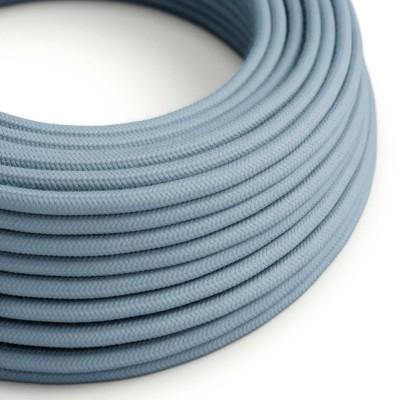 Elektrisches Kabel rund überzogen mit Baumwolle Einfarbig Ocean RC53