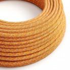 Elektrisches Kabel rund überzogen mit Baumwolle Indian Summer RX07
