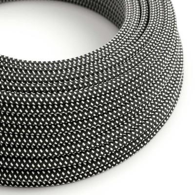 Elektrisches Kabel rund überzogen mit Textil-Seideneffekt 3D Sternmuster-Hervorhebung RT41