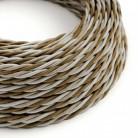 Elektrisches Kabel geflochten überzogen mit Textil Seiden-Effekt Windsor TG01