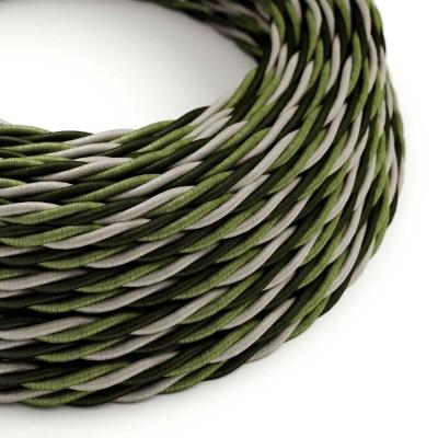 Elektrisches Kabel geflochten überzogen mit Textil Seiden-Effekt Cambridge TG02