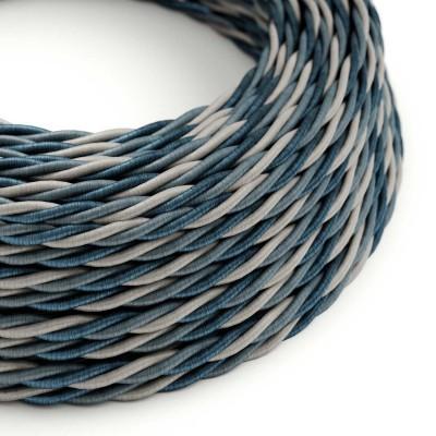 Elektrisches Kabel geflochten überzogen mit Textil Seiden-Effekt Bernadotte TG08
