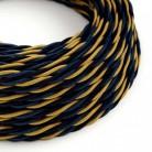 Elektrisches Kabel geflochten überzogen mit Textil Seiden-Effekt Savoia TG09