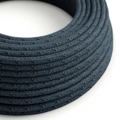 Elektrisches Kabel rund überzogen mit Baumwolle Mirage Blau RX10